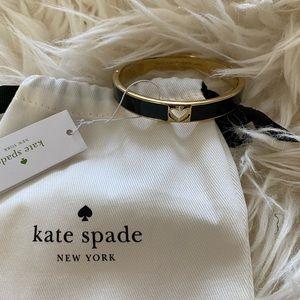 KATE SPADE NWT Black & Gold Bangle Bracelet
